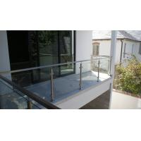 Buy cheap Glass Railing/ Glass Balustrade with Stainless Steel Post for Balcony Design product