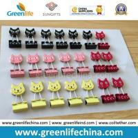 Buy cheap Customized Colorful Cat Shape Office Supply Binder Clip Paper Fasteners from wholesalers