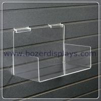 Buy cheap Clear 3mm thick Acrylic Slatwall Shelf with Sides from wholesalers