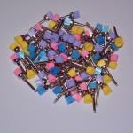 Buy cheap 100Pcs/bag Dental Colorful Polishing Polisher Prophy Bowl Brushes Nylon Latch Flat from wholesalers