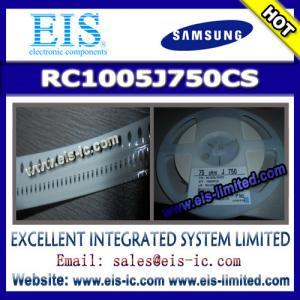 Buy cheap RC1005J750CS - SAMSUNG - THICK-FILM CHIP RESISTOR product