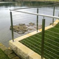 China Modern Stainless Steel Cable Stair Railing / Wire Railings Stairs for Outdoor & Indoor on sale
