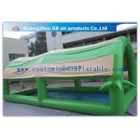 Buy cheap Customized Green Small Family Inflatable Pools For Kids / Adults With Cover Tent product