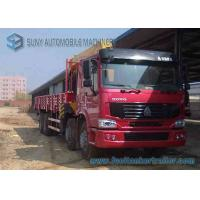 Buy cheap Right Hand Drive HOWO 8 X 4 12 Ton Crane Mounted Truck With Half Row Cab from wholesalers