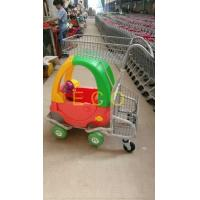 Buy cheap Cartoon Kids Supermarket Shopping Trolley With Toy Car And Baby Seat from wholesalers
