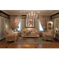 Buy cheap Luxury French-type Sofa set made by Wooden Carving Frame with Fabric Upholstery product