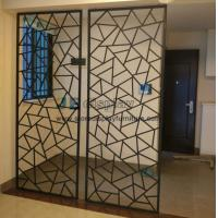 Buy cheap Manufacturers selling Fashion creative iron Partition wall screen and floor door flower entrance window frame from wholesalers