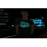 Buy cheap Disco , Party , Concert Electroluminescent Products EL Flashing T - Shirt from wholesalers