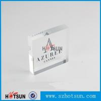 Buy cheap OEM brand logo solic acrylic block, Lucite/PMMA promotion block stand from wholesalers