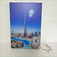 Buy cheap A4 Wall Mounted / Table LED Light Box Display Stand Crystal Photo Frame from wholesalers
