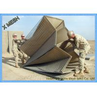 Buy cheap Hot Galvanized Welded Wire Mesh Sheets / Panels Barrier For Military ASTM Standards from wholesalers