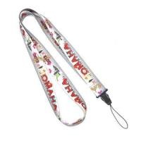 Buy cheap Heat Transfer Print Grey Cell Phone Lanyard Neck Strap For Samsung Nokia Gift from wholesalers