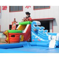 Buy cheap 3 years warranty Outdoor inflatable pirate ship water slide with swimming pool, Mini inflatable water park for toddlers from wholesalers