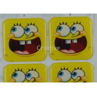 Buy cheap Funny CMYK Offset Printing Epoxy Dome Cartoon Stickers For Kids product