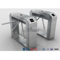 Buy cheap Fingerprint Reader Tripod Turnstile Gate , Full Automatic 304 Stainless Steel Turnstile product