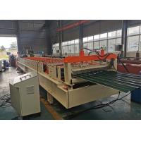 Buy cheap CE ISO SGS Shutter Roll Forming Machine , Shutter Door Machine With Cr12 Cutter product