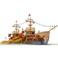 Buy cheap Customized Fiberglass Pool Pirate Ship Amusement Ride Safe And Durable from wholesalers
