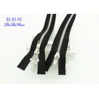 Buy cheap Sheen Silver Corn TeethTwo Way Metal Zip 5# High End For Jacket / Cardigans from wholesalers