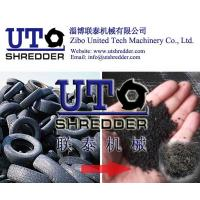 Good performance tire shredder waste tire recycling machine double