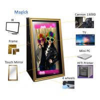 Buy cheap Touch Screen Kiosk Magic Mirror Photo Booth Machine 65 Inch 800cd/m2 Brightness from wholesalers