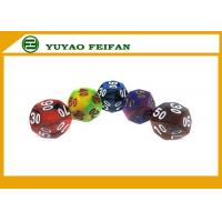 Buy cheap Custom Multicolor Acrylic Polyhedral 6 Sided Dice Sets Solid Color Dice Sets from wholesalers