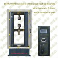 Buy cheap Electronic Universal Testing Machine with Hydraulic Pressure Gripper and  Protective Cover from wholesalers