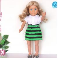 Buy cheap Lovely mathing girl doll dress 18 inch American girl doll clothes from wholesalers