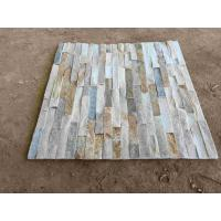 Buy cheap Natural Slate Wall Slab cladding stone/culture stone tiles Yellow Wood Slate Culture Stone product