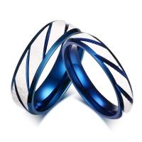 Buy cheap Special Blue Engagement Ring 316L Stainless Steel Wedding Bands Couple Ring For Women Men Jewelry from wholesalers