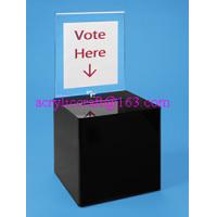 Buy cheap Counter top acrylic ballot box / plexiglass suggestion box prices from wholesalers