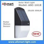 Buy cheap Solar Wall Light 25 LED Solar Garden Lights Decorative Fence Radar Sensor Motion Light Warm White Solar Fence Lights from wholesalers