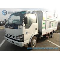 Buy cheap Isuzu 4 X 2 5000L Vacuum Road Sweeping Truck 2000KG Loading Capacity from wholesalers