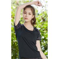 Buy cheap Moisture Wicking Womens Short Sleeve Sports Top T Shirts Good Sweat Absorption from wholesalers