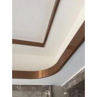 Buy cheap rose gold mirror stainless steel C channel for ceiling metal profile and wall tile trim from wholesalers
