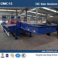 Buy cheap cimc shandong tri-axle low bed truck trailer 80 ton for sale from wholesalers