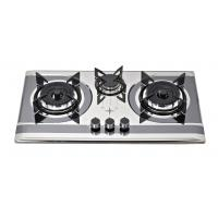 Stainless Steel SS 3 Burner Gas Cooker With Round Enamel Grill