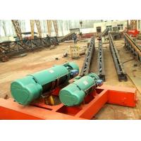 Buy cheap Double Twin Rails Wire Rope Electric Hoist Trolley , Electric Crane Hoist from wholesalers