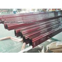 Buy cheap Custom Extruded Aluminium Sliding Door Track Extrusions /  Section from wholesalers