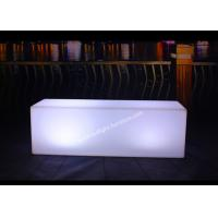 Buy cheap Party Straight Square LED Light Up Bench Battery Powered Available Six People Sitting from wholesalers