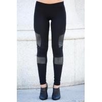Buy cheap Black Women'S Fashion Leggings PU Leather Leggings 92% Cotton 8% Spandex from wholesalers