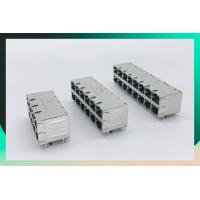 Buy cheap Shield Multi Port Connector , 2X8 Port RJ45 Connector With 1000 Base - T Integrated Magnetics Tab Up / Down product