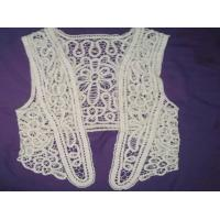 Buy cheap Sleeveless Sweater Crochet Vest For Women 100% Cotton Lace from wholesalers