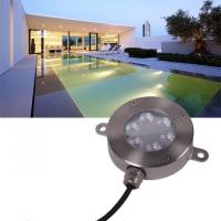 Buy cheap 12 Volt LED Underwater Light , Stainless RGB Color Changing LED Pool Light from wholesalers