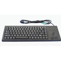 Strengthening PC peripheral black ABS plastic medical keyboard with roller trackball