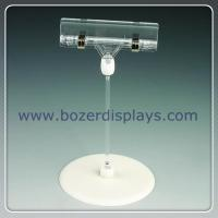 Buy cheap Shenzhen factory produce plastic pop sign clip with base from wholesalers
