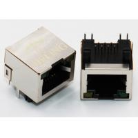 Buy cheap Brass Shielded Right Angle RJ45 Connector , 90 Degree Rj45 Coupler Built - In LED Lamp from wholesalers