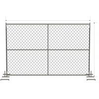 Buy cheap 6ft x 12ft/ 72inch x 120inch chain link temporary fencing  2 x 2 x 11 gauge wire chain mesh temp construction fence from wholesalers