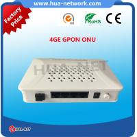 Buy cheap HZW-G804 1GE 4FE GPON ONU fully compatibility with OLT based on Broadcom/Huawei/ZTE/MTK chipset from wholesalers