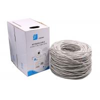 24AWG 0.5mm pass fluke Premium Solid UTP Cat5e Ethernet Cables grey 1000 Feet