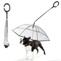 Buy cheap Ready To Ship: dog leashes umbrella Anti-Drop Reverse open Inverted Umbrella for Pets leash C shape handle umbrella from wholesalers